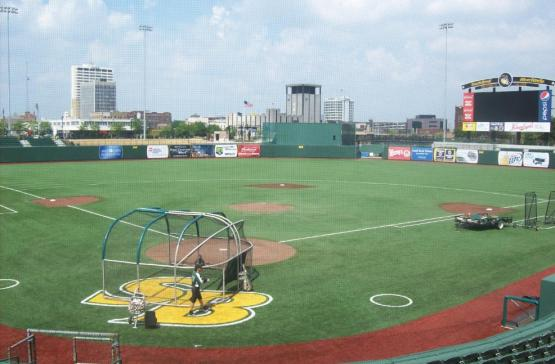 For reference, here is South Bend's Coveleski Stadium.
