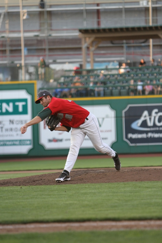 Alger works against the Wisconsin Timber Rattlers in the Midwest League Championship Series.