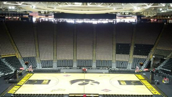 An empty Carver-Hawkeye Arena
