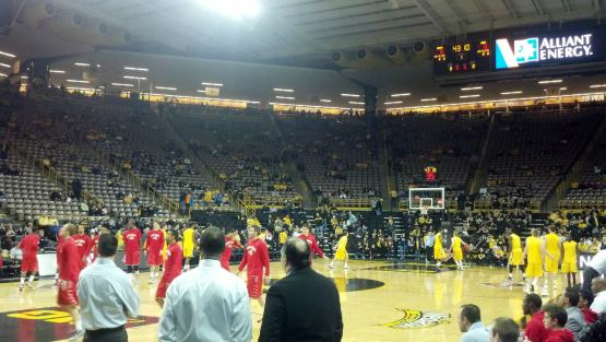 The crowd begins to fill in before tipoff