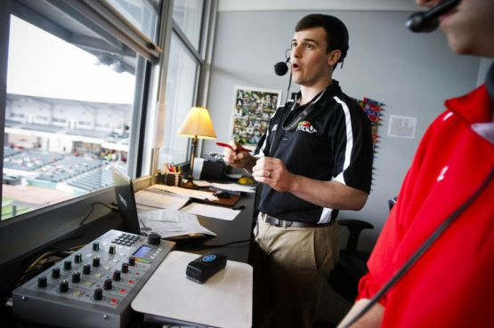 This is the view from the visiting radio booth, but I'm a little busy during the game, so I didn't actually take this photo. (Alex Slitz/Bowling Green Daily News)