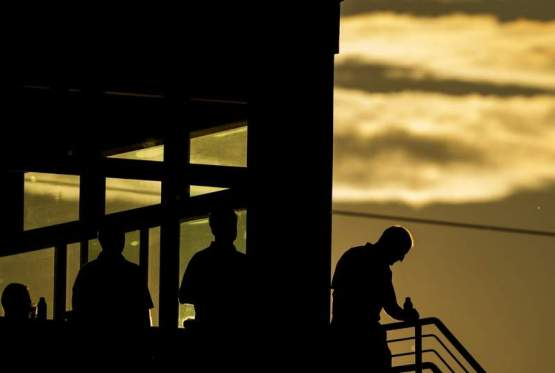 Great photo of the suite level at Parkview Field during Monday's sunset (Photo by Chad Ryan - The Journal Gazette)