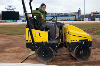 West Michigan Whitecaps head groundskeeper Mike Huie. (Photo by Cory Morse - MLive.com)