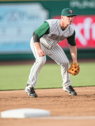 Infielder Chris Burke has played at every level of the Padres minor league system this season. (Photo by Jeff Nycz)