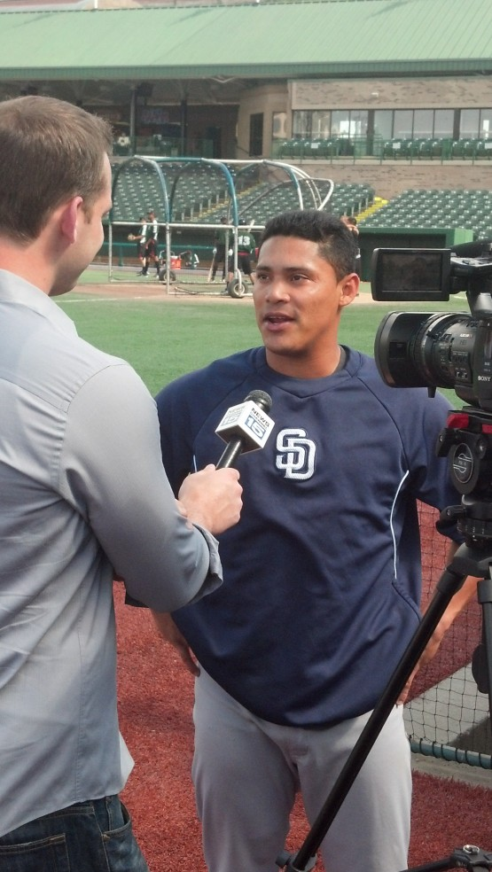 Everth Cabrera chats with Joe Whalen from Fort Wayne's WANE-TV.