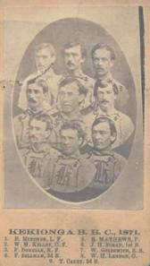 This is the only known photo of the 1871 Fort Wayne Kekiongas. It sold at auction for $43,500.