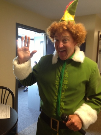 Gotta hand it to the Whitecaps' on-field emcee for sporting the Buddy the Elf getup. I'm just a little offended, though, that Buddy didn't ask me what my favorite color is.