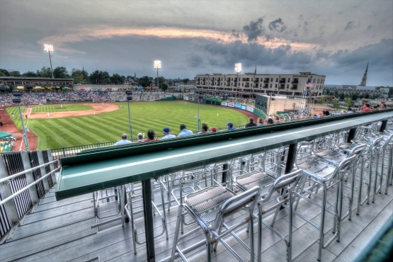 A view of Parkview Field from The Treetops. (Photo by Jeff Nycz, 2013)