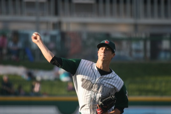 Matt Wisler in a TinCaps uniform on May 21, 2012.  (Photo by Brad Hand)