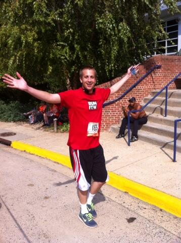 After finishing my final leg. Pretty happy.