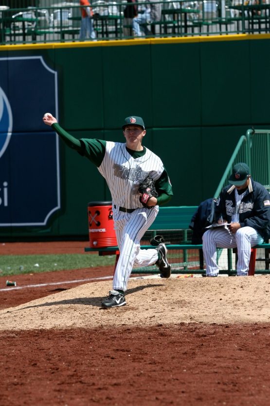Brach, drafted out of Monmouth University (NJ), led the Midwest League with 33 saves in 2009.