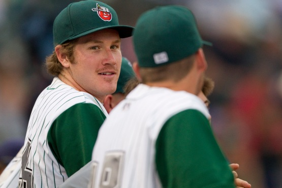 If you walk around Parkview Field, you'll find Miles Mikolas' mustache on one of the banners.