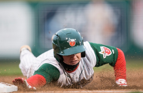 Josh VanMeter has brought his hard-nosed style of play from Norwell High School to Parkview Field. (Credit: Jeff Nycz)