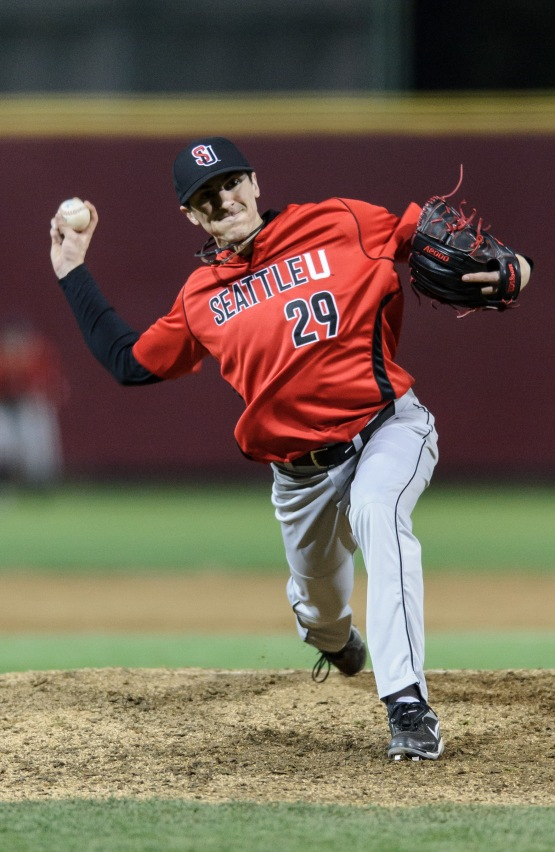 Eric Yardley on the hill February 16, 2013, for Seattle University. (Photo courtesy of Seattle University Athletics.