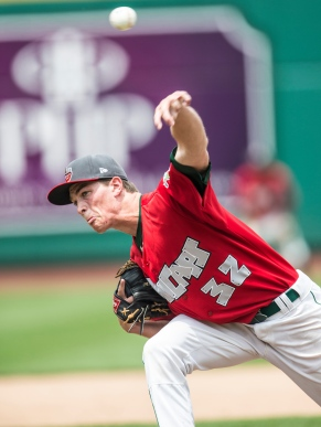 Max Fried returns to the TinCaps after working back from arm soreness. (Photo by Jeff Nycz)