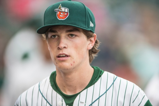 Max Fried in a TinCaps uniform in 2013. (Jeff Nycz)
