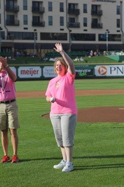 Breast cancer survivor Karen Peters (Photo Credit: Brad Hand)